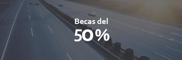 10 becas al 50%