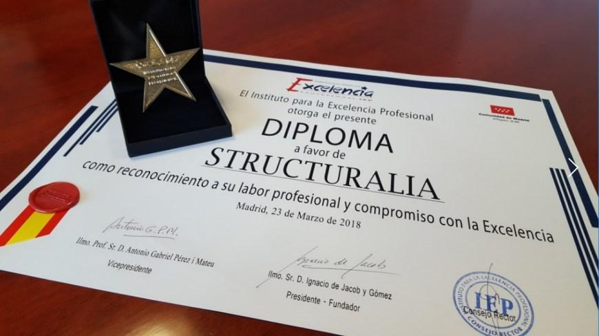 Structuralia recibe el premio Estrella de Oro, otorgado por el Instituto para la Excelencia Profesional