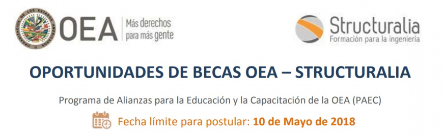 Nueva convocatoria de becas OEA Structuralia